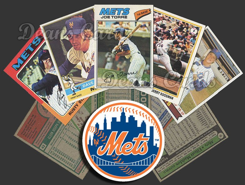 1975 Topps  -79  New York Mets 50 Card Team Starter Set / Lot